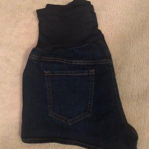 Pants - Maternity jean shorts